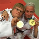 Victor G. und Alexandra R. mit der Goldmedaille